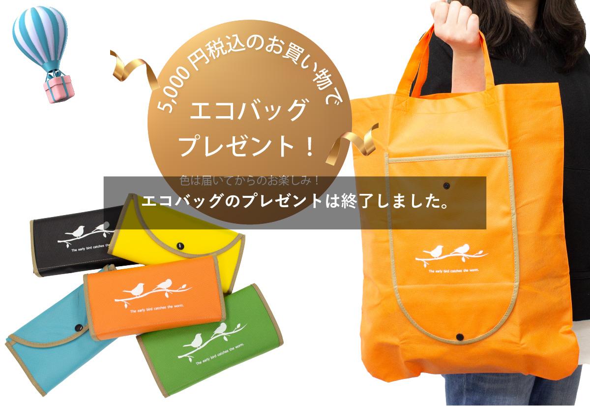 特典1 五千円税込のお買い上げでエコバッグプレゼント色は届いてからのお楽しみ!