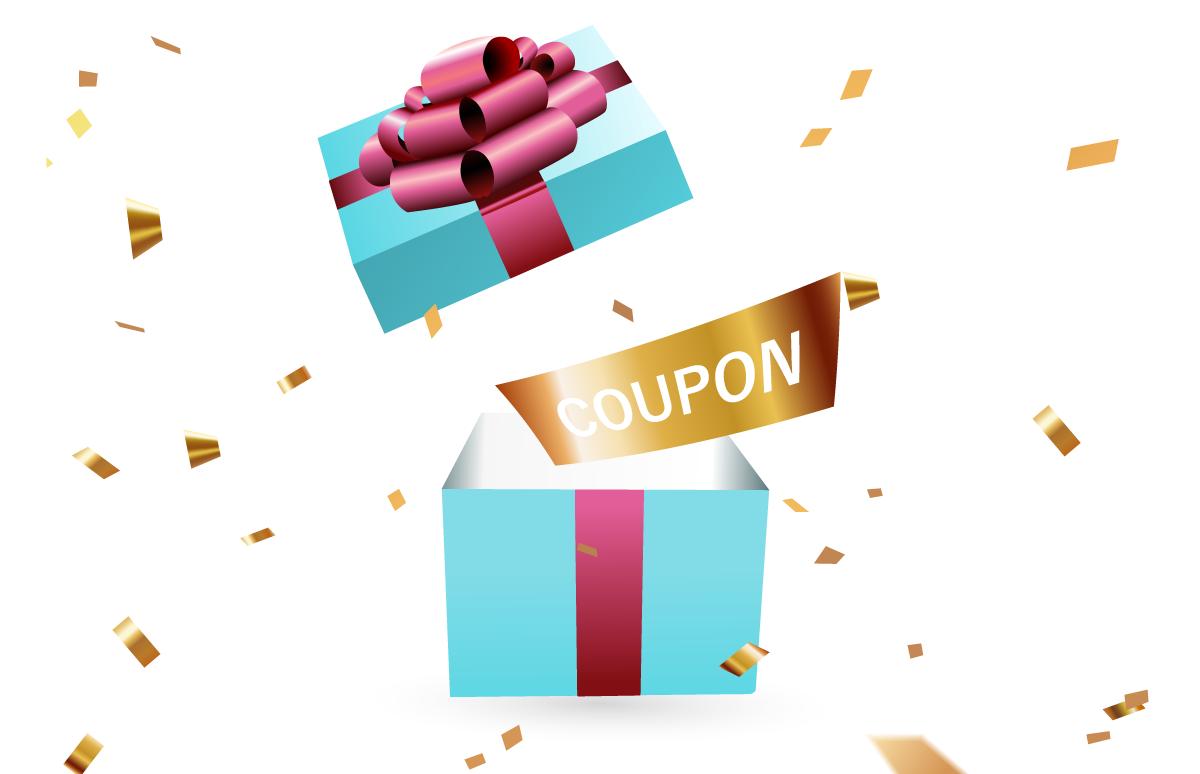 今だけ!初回ご購入後に次回のお買いもので使えるクーポンプレゼント